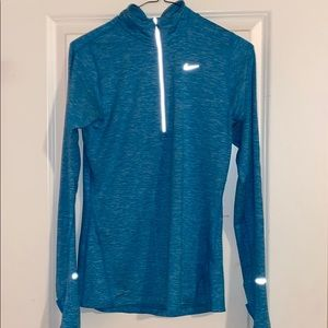 Women's jacket teal/seafoam half zip- Nike